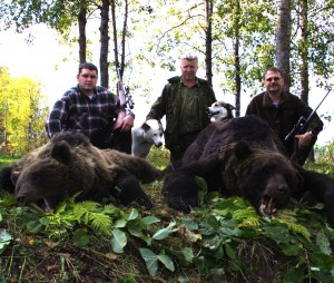 Sergei Shushunov European brown bear hunt, St. Petersburg