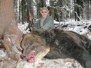 Sergei Shushunov Siberian brown bear hunt, Altai